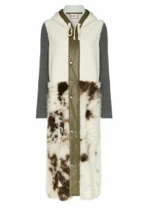 Plan C shearling two-tone coat - Multicolour