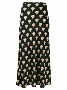 Rixo silk shell skirt - Black
