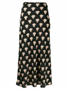 Rixo silk shell skirt - Black