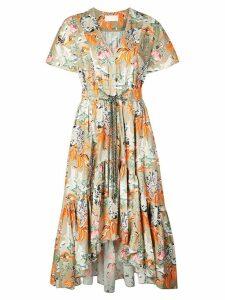 Peter Pilotto floral asymmetric dress - Green