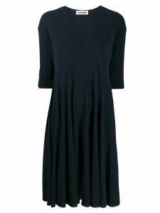 Jil Sander V-neck swing dress - Blue