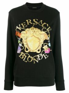 Versace Medusa motif graphic print sweatshirt - Black