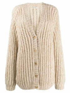 The Row chunky knit cardigan - Neutrals