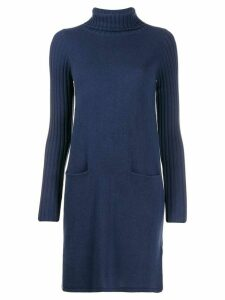 Allude long sleeve knitted dress - Blue