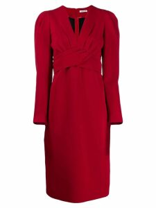 P.A.R.O.S.H. pleated cross dress - Red
