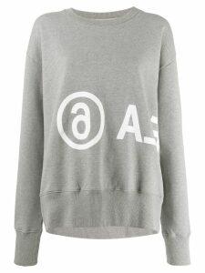 Mm6 Maison Margiela reversed logo oversized sweatshirt - Grey