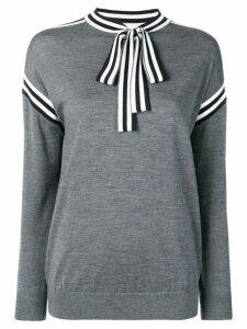 Victoria Victoria Beckham neck tie sweatshirt - Grey