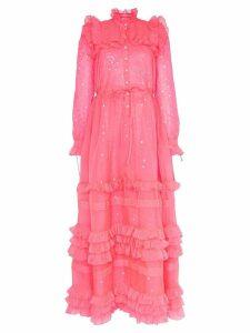 Ashish sequin embellished ruffle dress - Pink