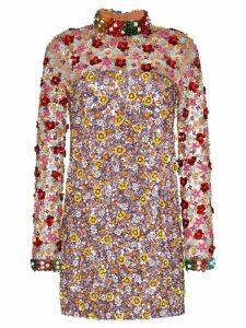 Ashish sequin-embellished mini dress - Brown