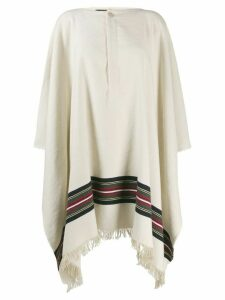 Jacquemus striped poncho coat - Neutrals
