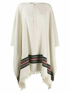 Jacquemus striped poncho coat - NEUTRALS