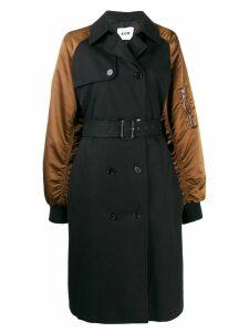 MSGM double-breasting bomber-style coat - Black