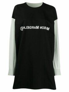 Mm6 Maison Margiela MM6 logo sweatshirt dress - Black