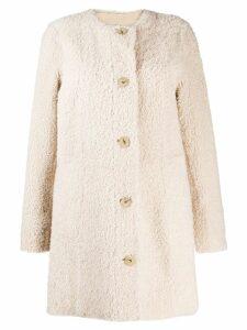 Drome buttoned-up coat - Neutrals
