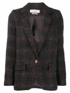Isabel Marant Étoile knitted tartan blazer - Grey