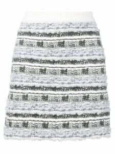 Thom Browne Check Tweed Yarn Miniskirt - Grey