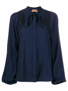 Nº21 pussycat bow long-sleeved blouse - Blue