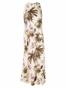 Vince mixed tropical garden dress - Brown