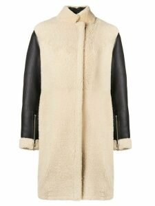 3.1 Phillip Lim Shearling Coat - Black