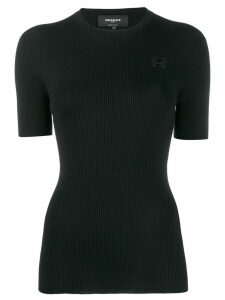 Rochas knitted round neck top - Black
