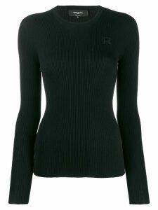 Rochas knitted round neck sweatshirt - Black