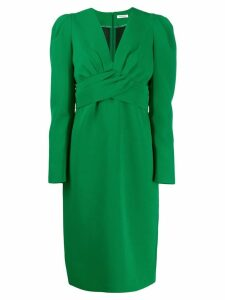 P.A.R.O.S.H. pleated cross dress - Green