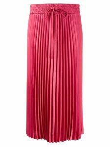 Red Valentino pleated midi skirt - PINK