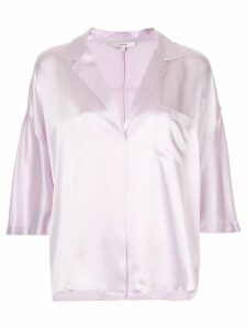Vince satin pajama shirt - Purple