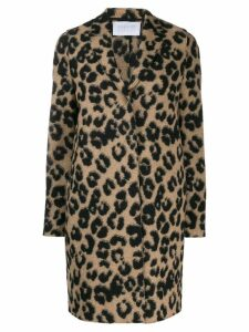 Harris Wharf London leopard print coat - Neutrals