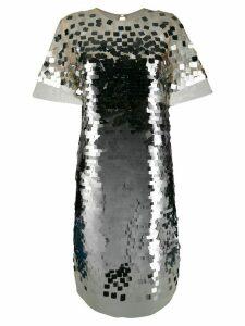 Ermanno Scervino sequin shift dress - Silver