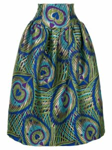 Manish Arora psychedelic heart print skirt - Green