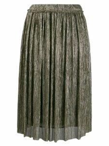 Isabel Marant Étoile metallic pleated skirt - Gold