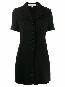 Diane von Furstenberg Rowan button-up mini dress - Black