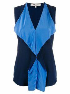 Diane von Furstenberg Isabel ruffled blouse - Blue