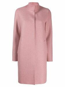 Harris Wharf London concealed front coat - Pink