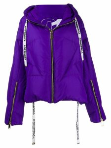 Khrisjoy logo drawstring puffer jacket - Purple