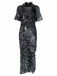 Preen By Thornton Bregazzi Sophia sequin-embellished ruched midi-dress