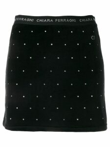 Chiara Ferragni crystal embellished skirt - Black