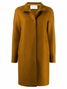 Harris Wharf London concealed front coat - Brown