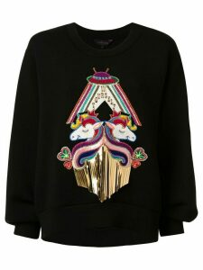 Manish Arora unicorn appliquéd sweatshirt - Black