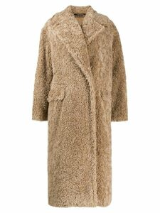 Tagliatore shearling coat - Neutrals