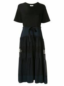 3.1 Phillip Lim T-shirt Dress With Lace Skirt - Blue