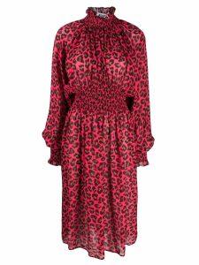 MSGM animal print midi dress - Pink
