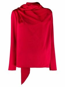Gianluca Capannolo asymmetric draped blouse - Red