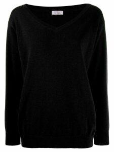 Brunello Cucinelli v-neck sweatshirt - Black