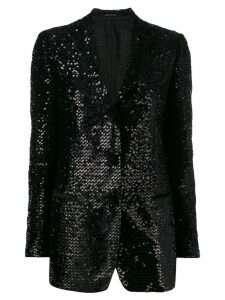 Tagliatore sequin embroidered blazer - Black