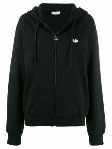 Chiara Ferragni Felpa embroidered logo hoodie - Black