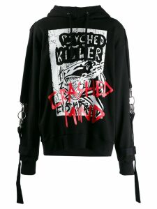 Faith Connexion oversized 'Psyched Killer' hoodie - Black