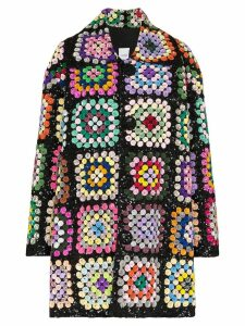 Ashish sequin-embellished crochet coat - Multicolour