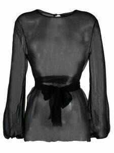 Gianluca Capannolo sheer long-sleeved blouse - Black